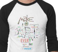 Make New Art Every Day Men's Baseball ¾ T-Shirt