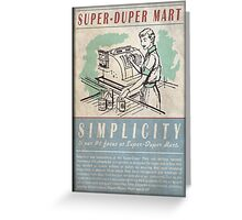 Fallout Super-Duper Mart Greeting Card