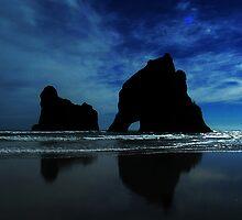 Archway Islands, Wharariki Beach, NZ by davecorban