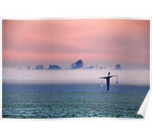 A foggy sunrise Poster