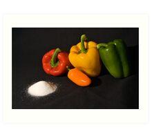 Salt and pepper set Art Print