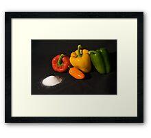 Salt and pepper set Framed Print