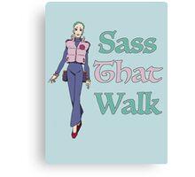 Gurren Lagann Leeron Littner - Sass That Walk Canvas Print