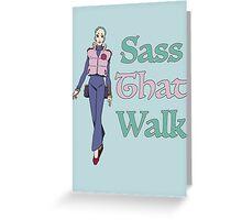 Gurren Lagann Leeron Littner - Sass That Walk Greeting Card