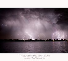 Lightning Thunderstorm on the Lake by Bo Insogna