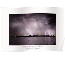 Lightning Thunderstorm on the Lake Poster