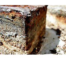 Rusty Block Photographic Print