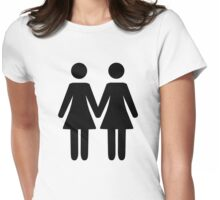 Lesbian Couple Womens Fitted T-Shirt