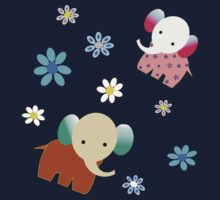 Elephants and flowers Kids Clothes