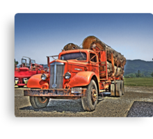 Old Log Truck Canvas Print
