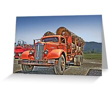 Old Log Truck Greeting Card