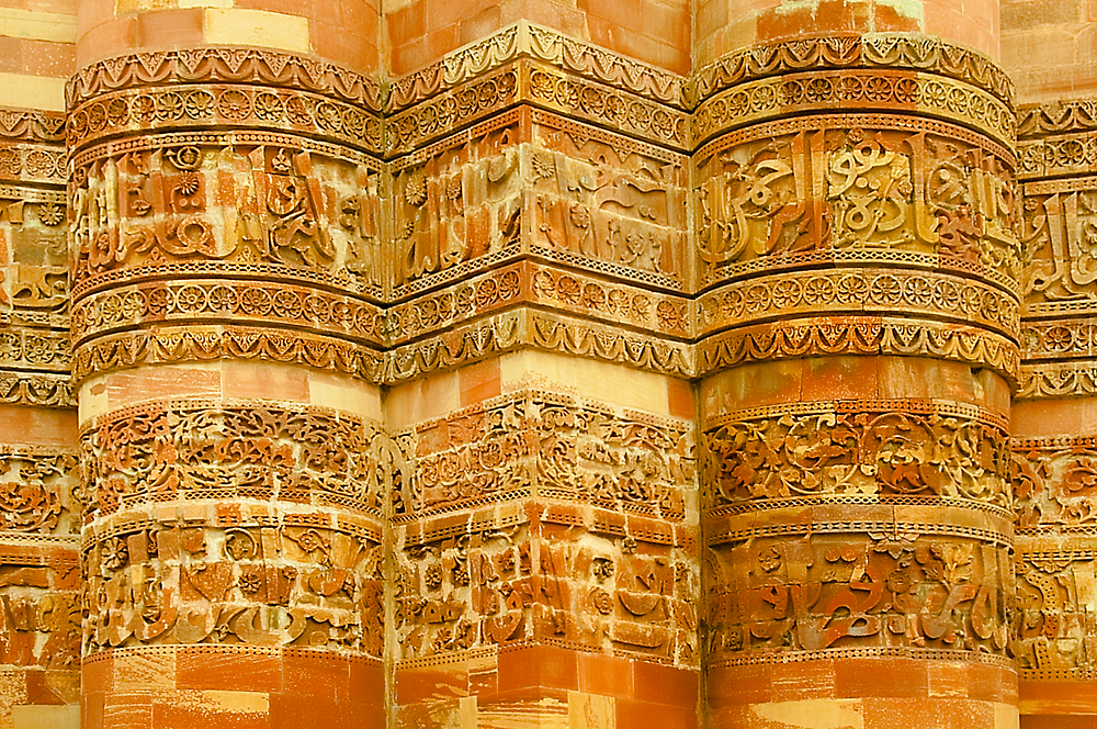 13th Century Carvings at Qutab Minar by Mukesh Srivastava