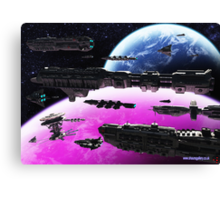 Fleet Maneuvers Canvas Print