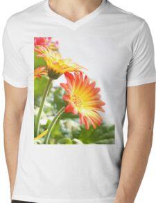 Two Flowers Mens V-Neck T-Shirt