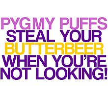 Pygmy Puffs Steal Your Butterbeer Photographic Print