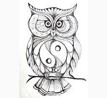 Black and White Owl Unisex T-Shirt