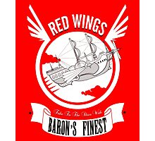 Red Wings of Baron Photographic Print