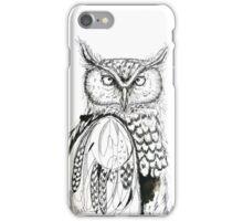 Grumpy Black and White Owl iPhone Case/Skin