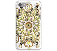 Yellow Mandala of the Color Wheel Series iPhone Case/Skin