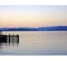 Flathead Lake at Dusk Photographic Print