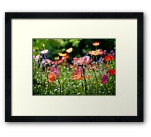 Flowers in Paris Framed Print