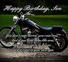 Son Birthday by Greeting Cards by Tracy DeVore