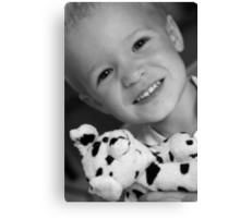 William and spotty dog Canvas Print