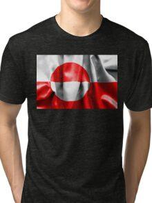 Greenland Flag Tri-blend T-Shirt