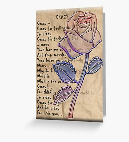 Crazy Verse Greeting Card
