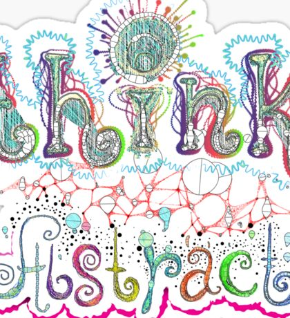 Think Abstract Sticker