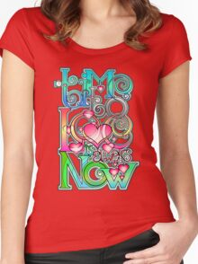 Time to Love is always Now! ( original ver. ) Women's Fitted Scoop T-Shirt