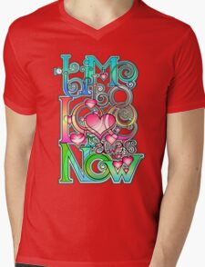Time to Love is always Now! ( original ver. ) Mens V-Neck T-Shirt