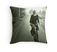 Gone for a ride. Throw Pillow