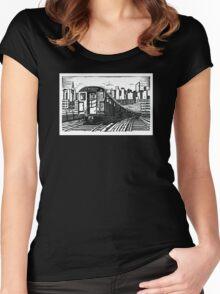 New York Subway Train Women's Fitted Scoop T-Shirt