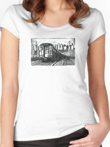 New York Subway Train Women's Fitted Scoop T-Shirt