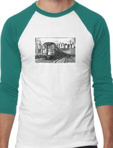 New York Subway Train Men's Baseball ¾ T-Shirt