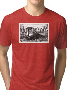 New York Subway Train Tri-blend T-Shirt