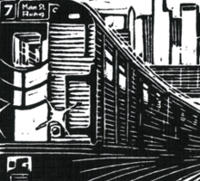 New York Subway Train Sticker