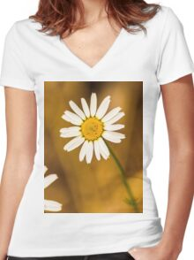 Daisy1 Women's Fitted V-Neck T-Shirt