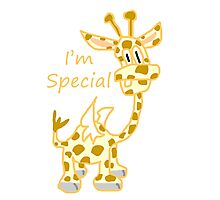 I'm Special - Flying Giraffe Photographic Print