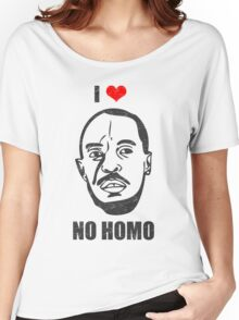 I *HEART* OMAR - 'NO HOMO' Women's Relaxed Fit T-Shirt