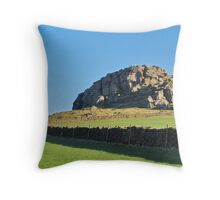 At Great Alms Cliff Throw Pillow