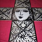painted tiles by catherine walker