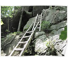 Ladders - yes these are ladders bolted into the rock!   Poster