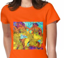 Sevillanas-Flamenco Dancers Womens Fitted T-Shirt