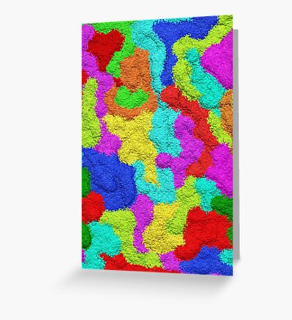 Psychedelic Glitter Pattern  Greeting Card