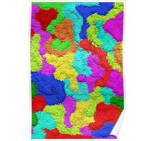 Psychedelic Glitter Pattern  Poster