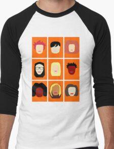 Orange is the New Black Inspired Minimalist Design Men's Baseball ¾ T-Shirt