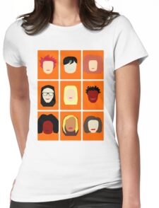 Orange is the New Black Inspired Minimalist Design Womens Fitted T-Shirt