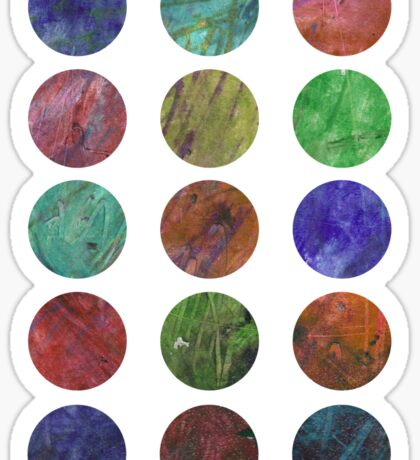 circles and textures Sticker
